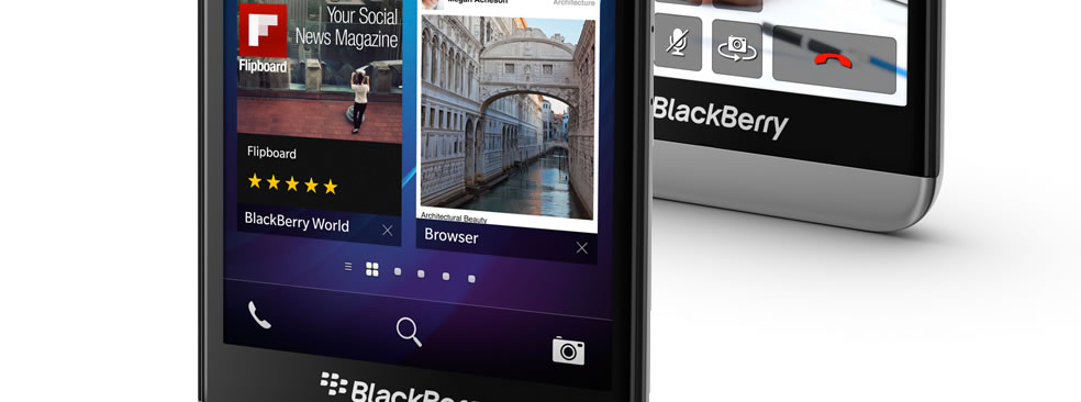 The new BlackBerry Z30 smartphone