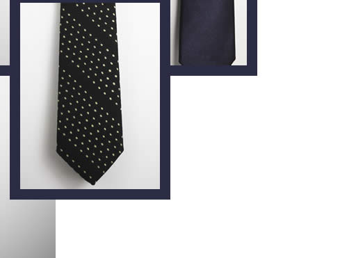 Title of Work ties and accessories are handmade with fabrics from Italy and England.