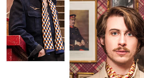A Piece Of Chic - Silk Scarves for men made in France